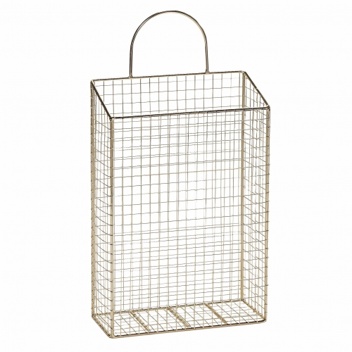 magazinhalter aus goldfarbenem metall 22x10x32 cm. Black Bedroom Furniture Sets. Home Design Ideas