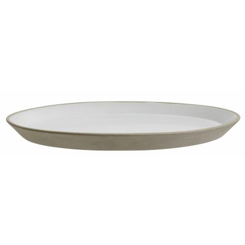 Steingut Teller beige weiß Großer Teller von NORDAL 27 cm