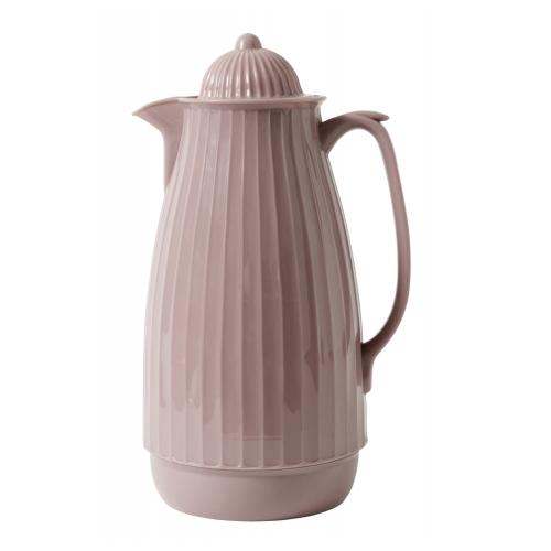Thermoskanne im Retro-Design, 1 Liter, Rose Altrosa