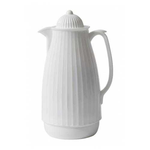 Thermoskanne im Retro-Design, 1 Liter, Weiß