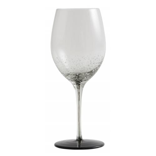 Bobble Weinglas mit schwarzem Fuß von NORDAL