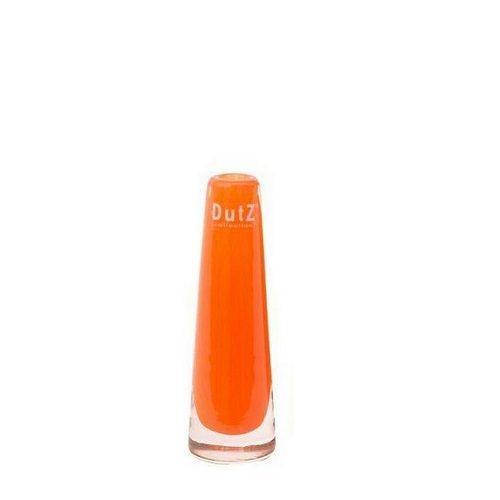 Dutz Vase soft orange 15 cm kleine Glasvase Solifleur