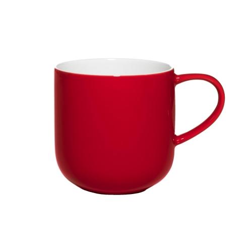 Henkelbecher rot innen weiß von Asa Selection 0,4 L