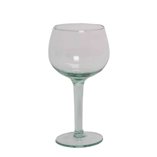 Trinkglas Binando auf hohem Fuß Weinglas aus Recycling Glas 21x10,5 cm
