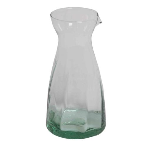 Karaffe Cuelmo mit schönen Kerben aus Recycling Glas 24,5x11,5 cm