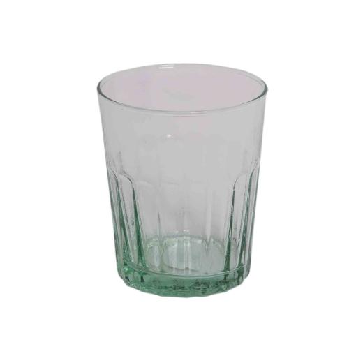 Trinkglas Brinda mit schönen Kerben aus Recycling Glas 21x10,5 cm