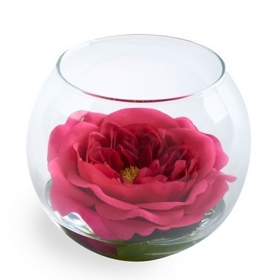 Rose Anouk beauty im runden Glas Pink