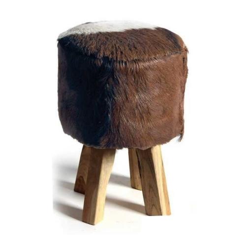 fell hocker im lumberjack stil material holz fell. Black Bedroom Furniture Sets. Home Design Ideas