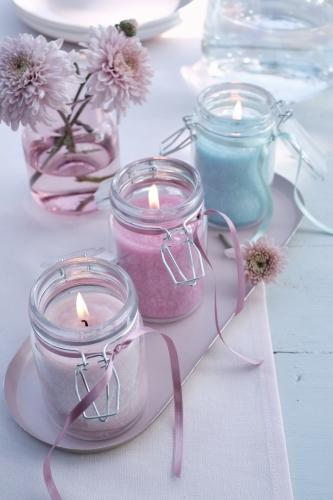 Kerze im Weckglas von Wenzel, Farbe Natural, 100% Oliven-Wachs, H12 cm