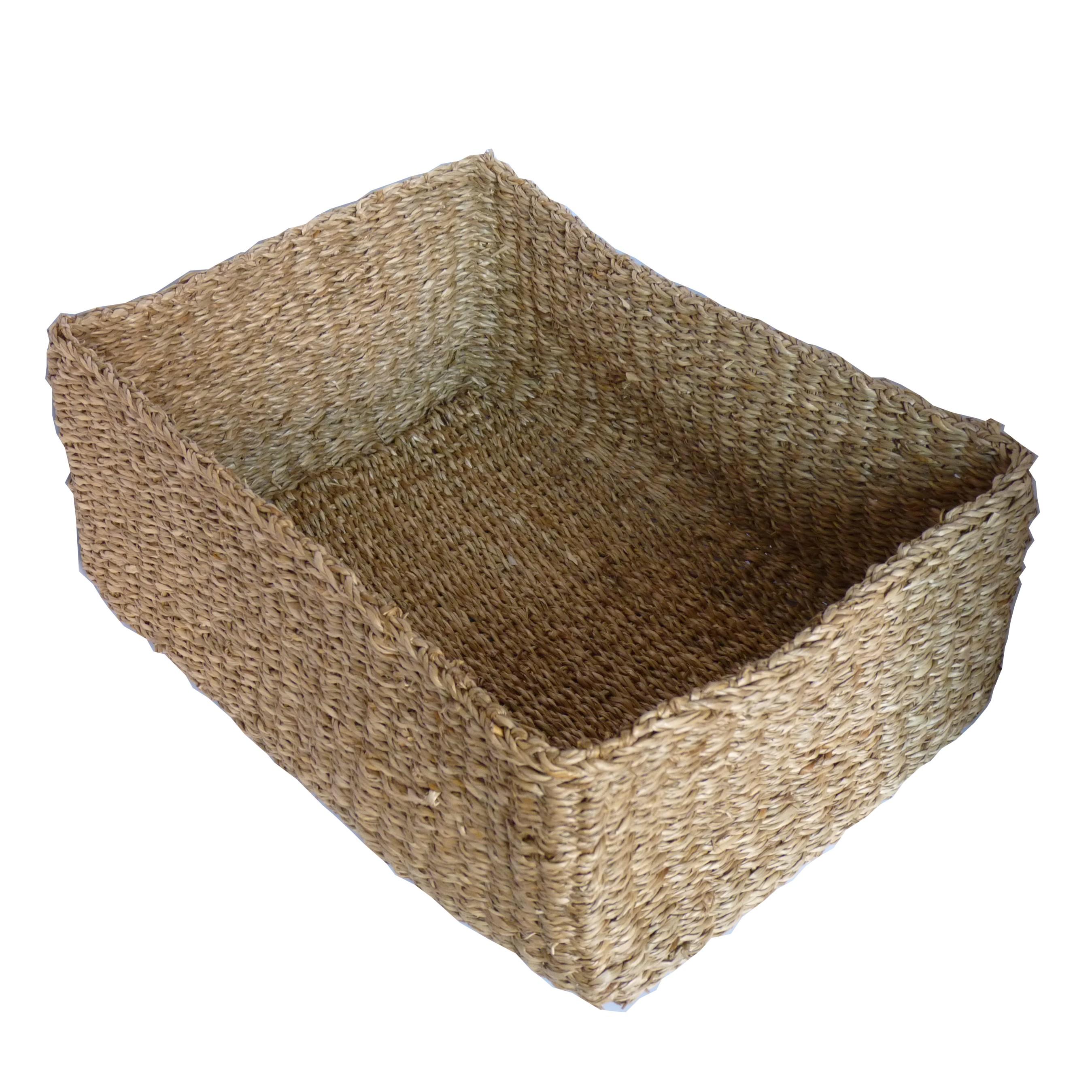 seegras korb schmink k rbchen aufbewahrung rechteckig. Black Bedroom Furniture Sets. Home Design Ideas
