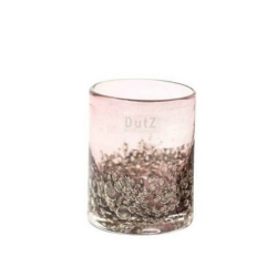 Dutz Cylinder Aubergine Bubbles H 10 cm D 9 cm, Luftblasen lila