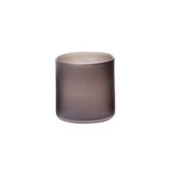 Dutz Cylinder Smoke Sandblasted mattiertes Glas H 14 cm D 14 cm
