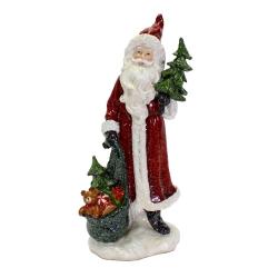 Weihnachtsmann Figur mit Geschenken 36,5 cm