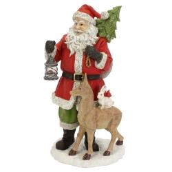 Weihnachtsmann Figur mit Laterne 41 cm