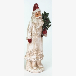 Weihnachtsmann Figur mit Frosty Finish 31,5 cm