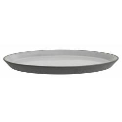 Steingut Kuchenteller schwarz weiß Kleiner Teller von NORDAL 22 cm