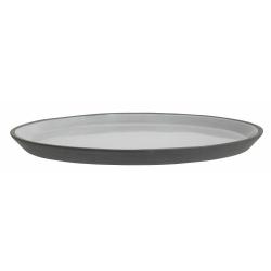 Steingut Teller anthrazit mit hellgrau Großer Teller von NORDAL 27 cm
