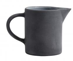 Steingut Sahnebecher schwarz weiß von NORDAL Dressingbecher