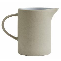 Steingut Wasserkrug 1 Liter beige weiß von NORDAL Krug Pitcher