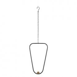Kerzenhalter Axel aus Metall zum Aufhängen schwarz dreieckig nierenförmig