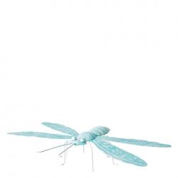 Libelle Sommerdeko Figur aus Metall 31x23xH6 cm