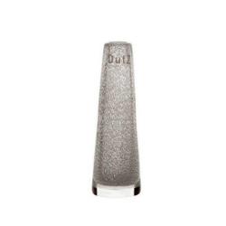 Dutz Vase Solifleur Clear Bubbles kleine Glasvase 15 cm transparent mit Lufteinschluss