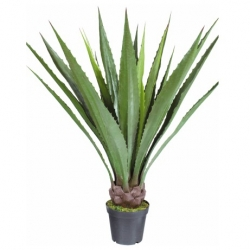 Kunstpflanze Agave Deluxe 120 cm getopft