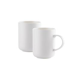 2 Kaffeebecher 30 cl im Set Keramik von WALRA, weiß