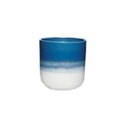 Becher in 2 Farben mit Aquarell-Farbverlauf von Hübsch Kaffeebecher Blau-Weiß