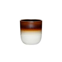 Becher in 2 Farben mit Aquarell-Farbverlauf von Hübsch Kaffeebecher Braun-Weiß