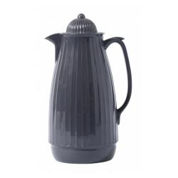 Thermoskanne im Retro-Design, 1 Liter, Anthrazit Dunkelgrau Aschgrau