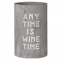 Weinkühler aus Beton mit schicker Prägung Any Time is Wine Time