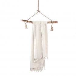 Hammamtuch Soft Cotton von Walra mit Fransen 100x180 cm Stein grau