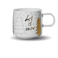 Henkelbecher Let it Snow Weihnachten von Asa Selection