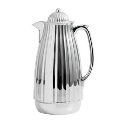 Thermoskanne im Retro-Design, 1 Liter, Silber