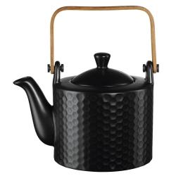 Teekanne mit Teesieb Comb schwarz Wabenstruktur von Asa Selection 0,75 L