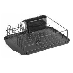 Abtropfschale von NORDAL 12x32x42 cm schwarz erleichtert Abwaschen
