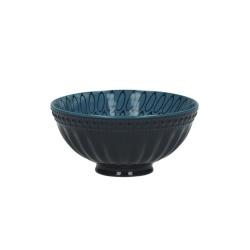 Schälchen Feather mit blauem Dekor von Pomax für Müsli, Desserts, Bowls, Dekoration 12x6 cm