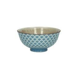 Schälchen Feather Star Fish mit blauem Dekor von Pomax für Müsli, Desserts, Bowls, Dekoration 12x6 cm