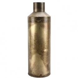 Deko Metall-Flasche H 41 cm Vase in schmaler Flaschenform