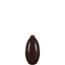 Keramik Vase Valencia H 15 cm, D 8 cm Farbe Malve, lila