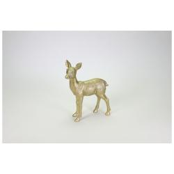 Rehkitz Gold Deko Figur detailliert gearbeitet 28,5 x 22,5 cm