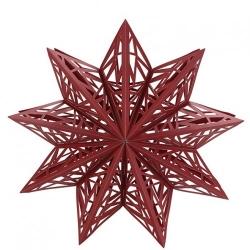 Großer Stern zum Hängen im scandi-style dunkelrot