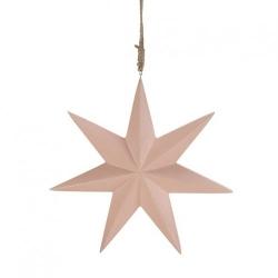 Stern zum Hängen in rosa