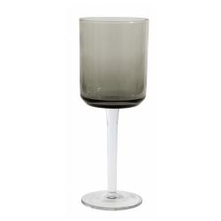 Retro Rotweinglas von NORDAL klare Form Farbe Grau