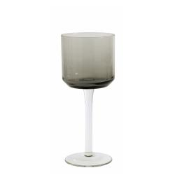 Retro Weißweinglas von NORDAL klare Form Farbe grau