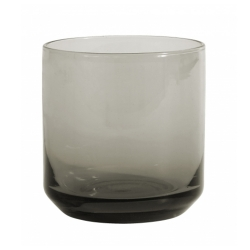 Retro Trinkglas von NORDAL klare Form Farbe Grau
