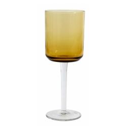Retro Rotweinglas von NORDAL klare Form Farbe Amber Gelb