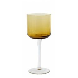 Retro Weißweinglas von NORDAL klare Form Farbe Amber Gelb