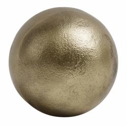 Goldfarbene Deko Kugel Aluminium glatt 10 cm von NORDAL